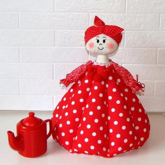 Інтер'єрна лялька НЕЛЯ - баба-грілка для чайника