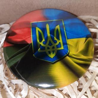 "Значок Круглый Украина "" СЛАВА УКРАЇНІ """