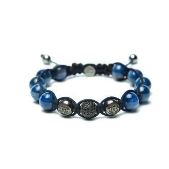 Мужской браслет Lotus Design с синим кианитом