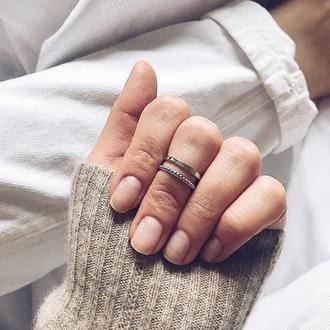 Серебрянное кольцо на верхнюю фалангу