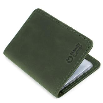 Обложка кожаная на ID паспорт, права Handycover HC0047 зеленая