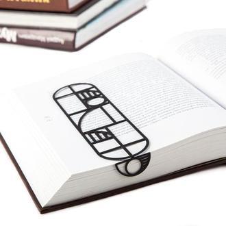 Закладка для книг «Баухаус» (черный цвет)