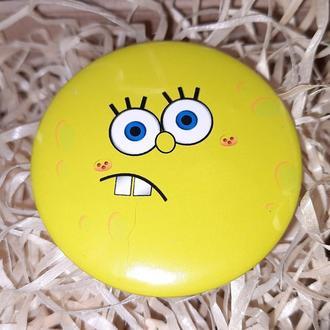 Круглый значек значок спанч боб spongebob squarepants