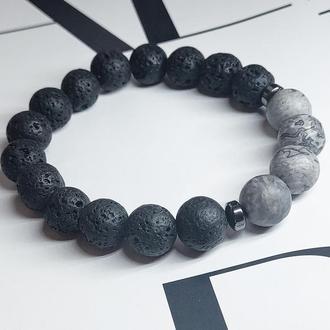 Браслет из натуральных камней, браслет для мужчины, мужской браслет, подарок для мужчины, оберег