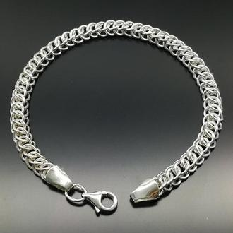 Серебряный браслет  плетение Персия
