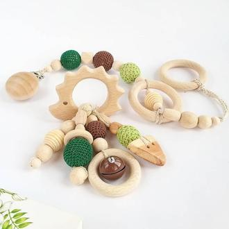 Подарочный набор Ежик грызунок и держатель на прищепке
