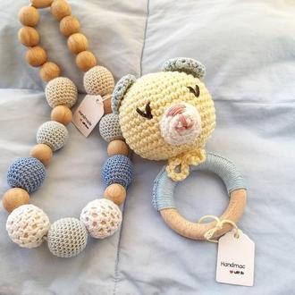 Набор для малыша мамабусы и Мишка погремушка