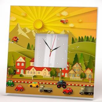 """Настенные часы в детскую комнату """"Мультик"""""""