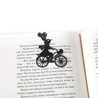 Закладка для читання книг «Дівчинка на велосипеді з кульками»