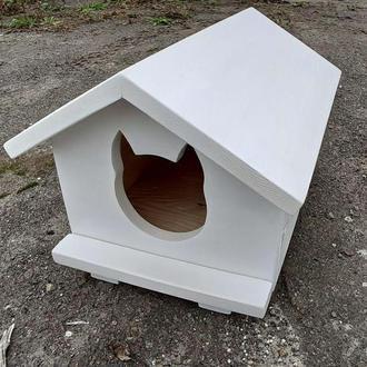 Домик для кота білий