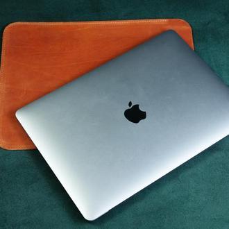 Кожаный чехол для MacBook, Кожаный чехол для ультрабука, Кожаный чехол для любой модели ноутбука