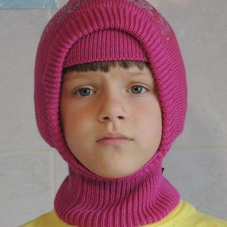 Шапка шлем зимняя