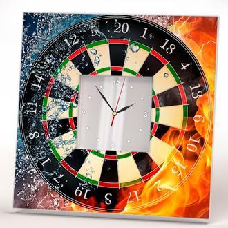 """Интерьерные часы на тему игры """"Дартс"""" в бар, офис, квартиру, комнату, дом"""