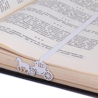 Закладка для книг «Свадебная карета»