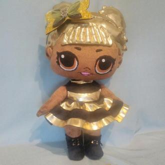 Плюшевая кукла лол золотая пчелка мягкая игрушка