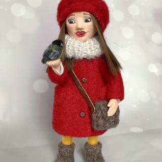 Интерьерная коллекционная кукла. Миниатюра «Встреча».