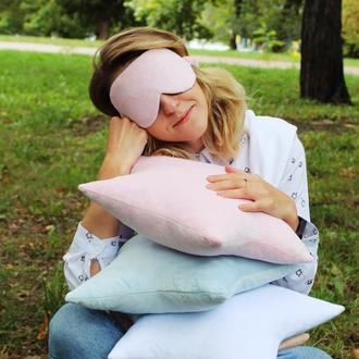 Плюшевая маска для сна киев, повязка на глаза львов, маска для сну, розовая маска