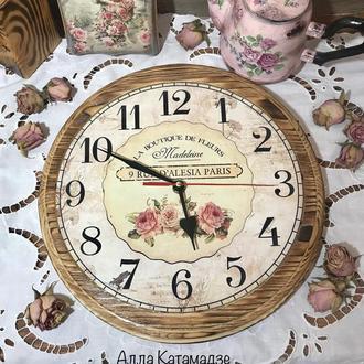 Часы «Розы Прованса»
