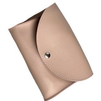 Сумка на пояс клатч женская модная с двумя ремнями из экокожи розовая