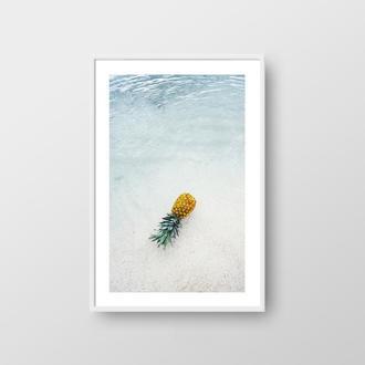 Фотопостер Ананас в воде