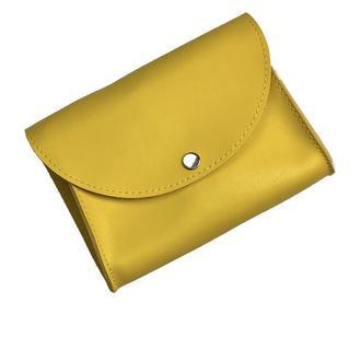 Сумка на пояс клатч женская модная с двумя ремнями из экокожи желтая