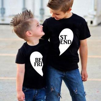 "ФП005380Парные футболки Push IT Family Look с принтом ""Best friend"""