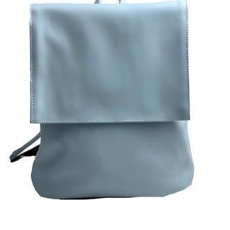 Рюкзак женский с клапаном городской средний непромокаемый из экокожи голубой