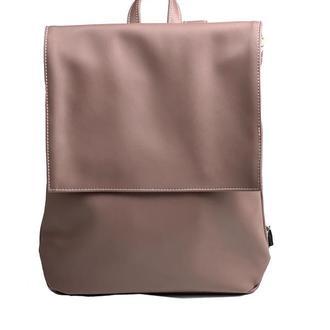 Рюкзак женский с клапаном городской средний непромокаемый из экокожи какао