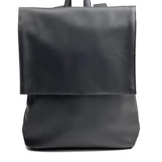 Рюкзак женский с клапаном городской средний непромокаемый из экокожи черный