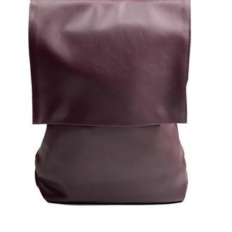 Рюкзак мужской с клапаном большой городской непромокаемый из экокожи фиолетовый