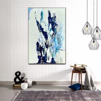 """Сучасна абстрактний живопис """"Крила сніжного ангела"""""""