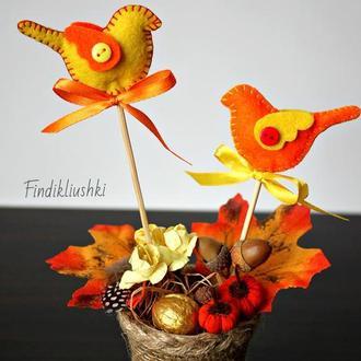 "Осенняя композиция ""Краски осени"".  Осенний декор."