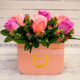 Букет цветов из ароматного мыла, букет роз.