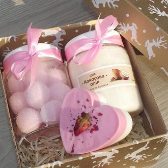 Подарочный набор розовый