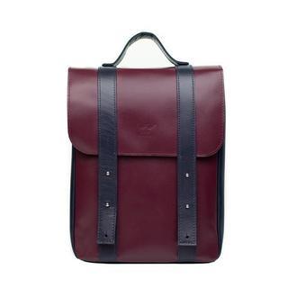 Кожаный рюкзак 13″ бордово-синий