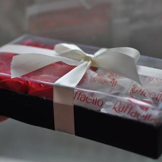 Подарочный набор Розы+Рафаелло