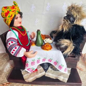 Кукла Солоха и Чорт из вечеров