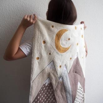 Ковер в технике ковровой вышивки / детский коврик / коврик в ванную