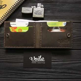 Мужской кожаный бумажник  VOILE mw4 brn коричневый