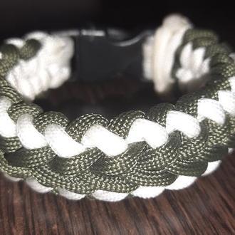 Зелёный браслет из паракорда, мужской браслет