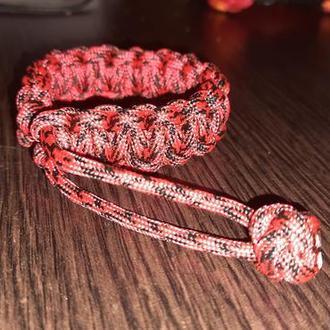 Красный браслет, универсальный браслет,  мужской браслет