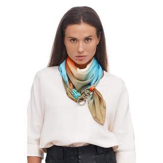 """Шелковый платок """"""""Шоколадная страсть """" от бренда my scarf, шейный платок, подарок женщине"""