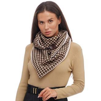 "Теплый шарф ""Эдинбург"", шарф снуд, шарф бактус, зимний женский шарф, большой женский шарф"
