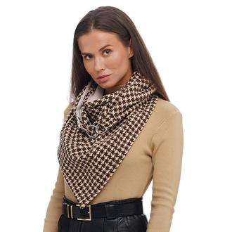 "Теплый шерстяной шарф ,,Эдинбург"", шарф снуд, шарф бактус, зимний женский шарф, большой женский шарф"