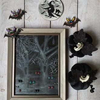 """Интерьерный набор для дома. Декор для """" Хеллоуин""""."""