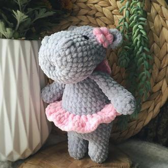 Игрушка бегемот фея плюшевая игрушка для девочки, подарок ребёнку на день рождения, мягкая игрушка