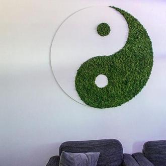 Логотип из мха Ягель Кочки Плоский 1 кв м