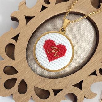 Именной кулон сердце с буквой Кулон подвеска с инициалами Подарок девушке на 14 февраля 8 Марта