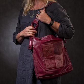 Женская кожаная сумка в этническом стиле «Лая»