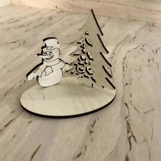 "Подложка ""Елка и снеговик"" от 10шт."
